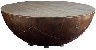 Kieran Drum Coffee Table - Antiqued Brass - Brownstone Furniture
