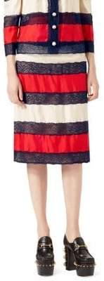 Gucci Silk Twill Skirt