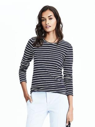 Long-Sleeve Striped Tee $29.50 thestylecure.com