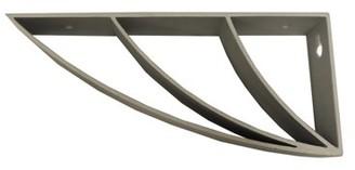 InPlace Silver Curved Shelf Bracket-6 Pack