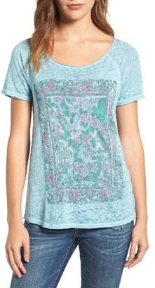 Women's Lucky Brand Floral Gardens Tee $39.50 thestylecure.com