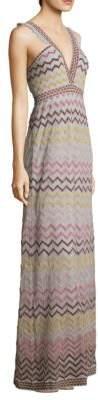M Missoni Rainbow Chevron Maxi Dress