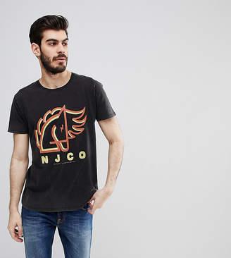 Nudie Jeans Anders Logo Horse Print T-Shirt