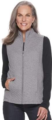 Croft & Barrow Women's Quilted Knit Vest