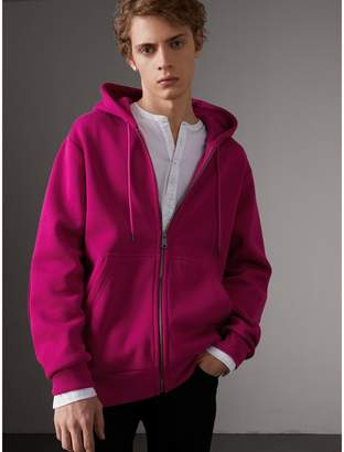 Burberry Cotton Jersey Zip-front Hooded Top
