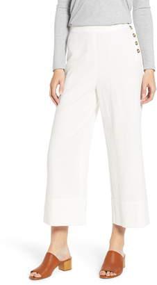 GOOD LUCK GEM Button Detail Crop Pants