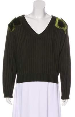 Zadig & Voltaire Velvet-Paneled Wool Sweater