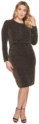 MICHAEL Michael Kors Size Twist Waist Long Sleeve Dress Women's Dress