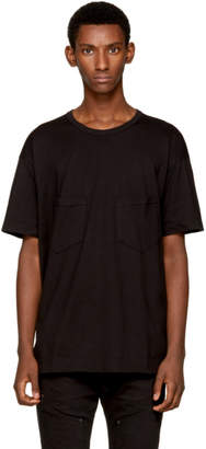 The Viridi-anne Black Double Pocket T-Shirt