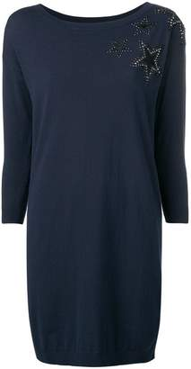 Liu Jo star embellished sweater dress