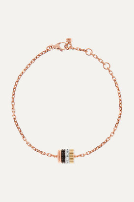 Boucheron Quatre Classique 18-karat Rose, Yellow And White Gold Diamond Bracelet - Rose gold