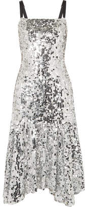 Dolce & Gabbana Paillette-embellished Tulle Midi Dress - Silver