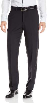 Haggar Men's Stripe Straight Fit Plain Front Pant