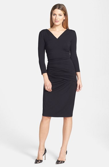Rachel Roy Gathered Stretch Jersey Sheath Dress