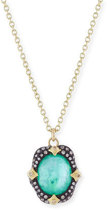Armenta Old World Midnight Oval Crivelli Necklace with Diamonds