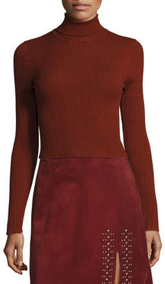 A.L.C. Pippa Ribbed Wool-Blend Sweater