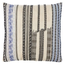 Jaipur Nikki Chu By Living Nova Cream/Black Stripe Poly Throw Pillow 22""