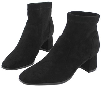 Goodnight Macaroon 'Harris' Faux Suede Heeled Ankle Boots (2 Colors)