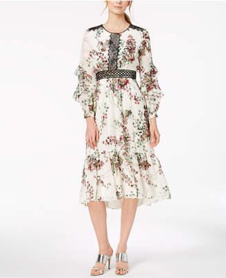 Taylor Floral-Print Midi Dress
