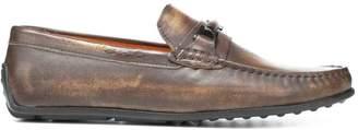 Donald J Pliner IMARI, Washed Calf Leather Driving Loafer