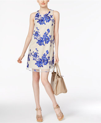 Eci Tie-Back Embroidered Mesh Dress $80 thestylecure.com