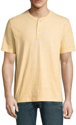 ST. JOHN'S BAY Short Sleeve Henley Shirt-Slim