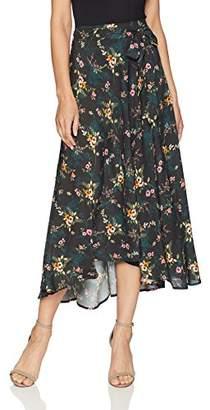 Velvet by Graham & Spencer Women's Swan Floral Printed Challis Skirt