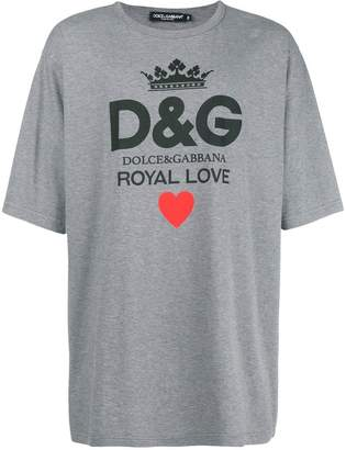 Dolce & Gabbana royal love print T-shirt