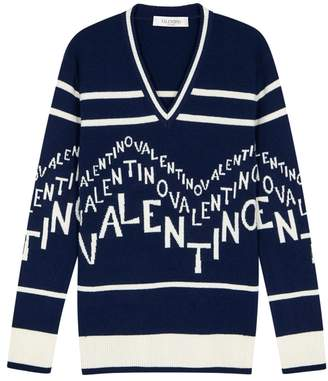 Valentino Logo-jacquard Wool