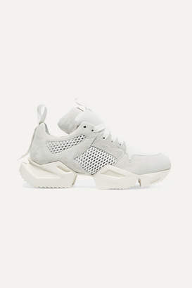 Unravel Project Suede And Mesh Sneakers - White