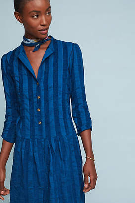 The Odells Striped Drop-Waist Shirtdress
