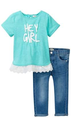 Jessica Simpson Hey Girl Tee & Jeans Set (Toddler Girls)