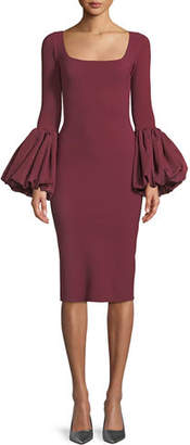 Chiara Boni Ary Body-Con Dress w/ Balloon Sleeves