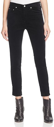 rag & bone/JEAN Five-Pocket Skinny Jeans in Black Velvet $250 thestylecure.com