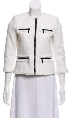 MICHAEL Michael Kors Tweed Zip-Up Jacket
