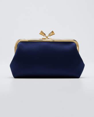 Anya Hindmarch Maud Tassel Satin Clutch Bag