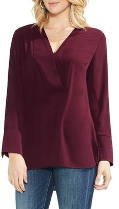 Vince Camuto Layered V-Neck Blouse