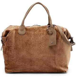 Deux Lux Hazel Snake Embossed Velvet Overnight Bag