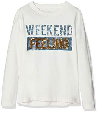 Name It Girl's Nkfsamay Ls Top Sweatshirt, (Snow White), (Size: -128)