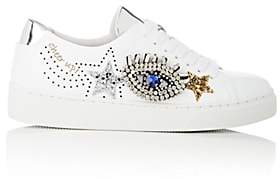 Helena & Kristie Women's Embellished Leather Sneakers - White
