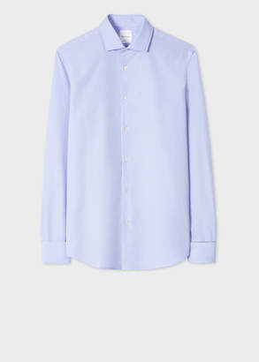 Paul Smith Men's Tailored-Fit Light Blue 'Signature Stripe' Double Cuff Shirt