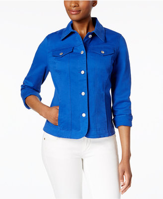 Charter Club Denim Jacket, Only at Macy's $79.50 thestylecure.com