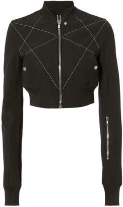 Rick Owens Embroidered Cropped Bomber Jacket