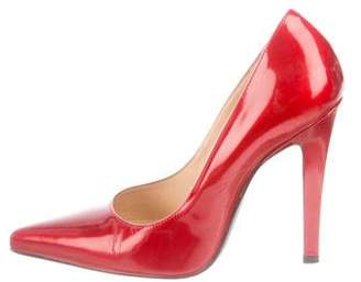Casadei Patent Leather Pointed-Toe Pumps
