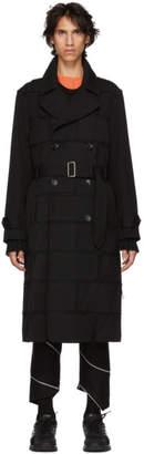 Comme des Garcons Black Thick Gabardine Coat
