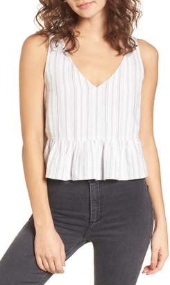 BP Cutout Peplum Tank Top