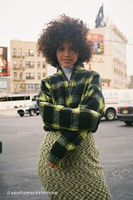 Urban Outfitters Plaid Fleece Half-Zip Pullover Sweatshirt