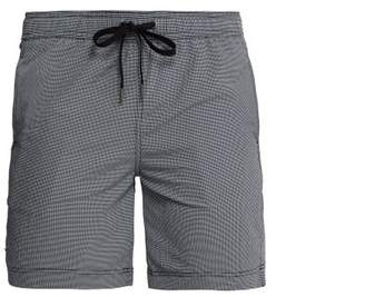 Onia Charles Gingham Swim Shorts - Mens - Navy
