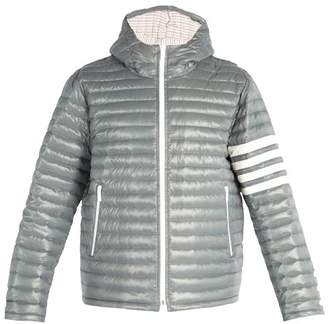 Thom Browne 4 Bar Stripe Quilted Down Filled Jacket - Mens - Grey
