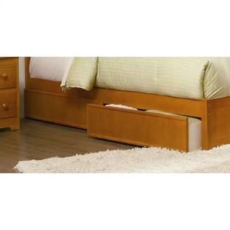 Atlantic Furniture Studio Queen Underbed Storage Drawers in Caramel Latte